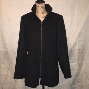 Jackets & Blazers - Beautiful Black Zip Up Coat Lined  Size XL NEW